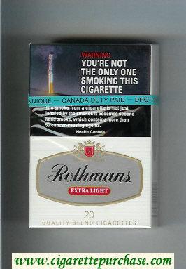 Discount Rothmans Extra Light cigarettes hard box