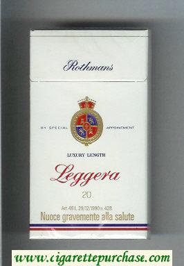 Discount Rothmans Leggera Luxery Length 100s cigarettes hard box