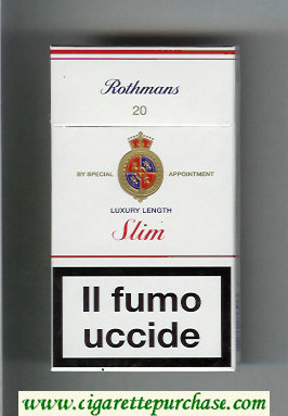 Discount Rothmans Slim Luxery Length 100s cigarettes hard box