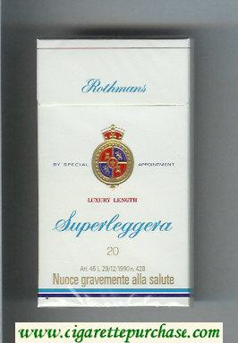 Discount Rothmans Superleggera Luxery Length 100s cigarettes hard box