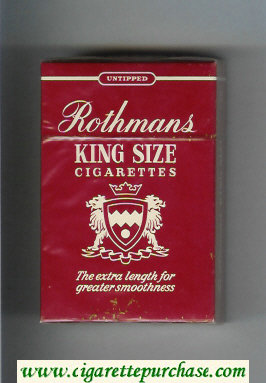 Discount Rothmans King Size Untipped cigarettes red hard box