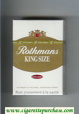 Discount Rothmans King Size Extra Legere By Special Appointment cigarettes hard box