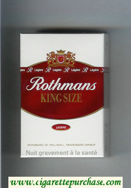 Discount Rothmans King Size Legere By Special Appointment cigarettes hard box