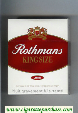 Discount Rothmans King Size Legere By Special Appointment 25 cigarettes hard box