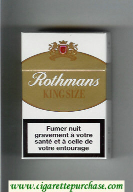 Discount Rothmans King Size By Special Appointment cigarettes white and gold hard box