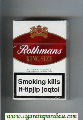 Discount Rothmans King Size By Special Appointment cigarettes white and red hard box