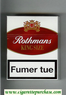Discount Rothmans King Size By Special Appointment 25 cigarettes white and red hard box