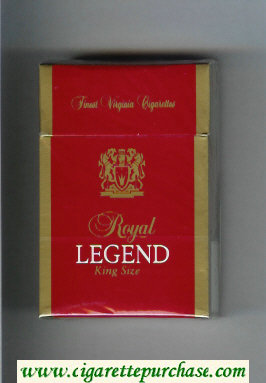 Discount Royal Legend King Size Finest Virginia Cigarettes cigarettes hard box