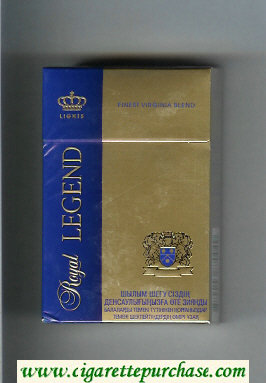 Discount Royal Legend Lights Finest Virginia Blend Cigarettes hard box