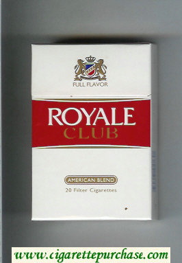 Discount Royale Club American Blend Full Flavor cigarettes hard box