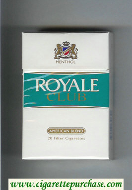 Discount Royale Club American Blend Menthol cigarettes hard box