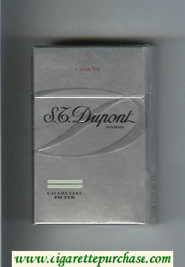 Discount S.T.Dupont Paris Charcoal Filter Lights cigarettes hard box