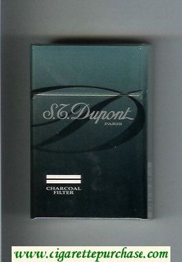Discount S.T.Dupont Paris Charcoal Filter cigarettes hard box