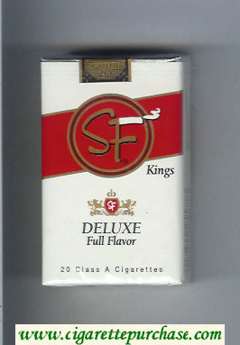 SF Deluxe Full Flavor Kings cigarettes soft box