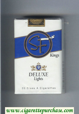 Discount SF Deluxe Lights kings cigarettes soft box