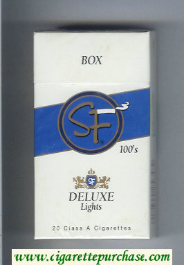 Discount SF Deluxe Lights 100s cigarettes hard box