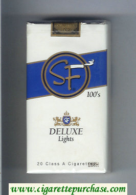 Discount SF Deluxe Lights 100s cigarettes soft box