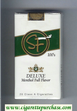 Discount SF Deluxe Menthol Full Flavor 100s cigarettes soft box