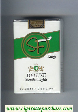 Discount SF Deluxe Menthol Lights Kings cigarettes soft box