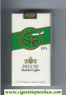 Discount SF Deluxe Menthol Lights 100s cigarettes soft box