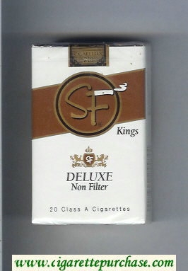 Discount SF Deluxe Non-Filter kings cigarettes soft box