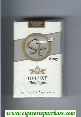 SF Deluxe Ultra Lights kings cigarettes soft box
