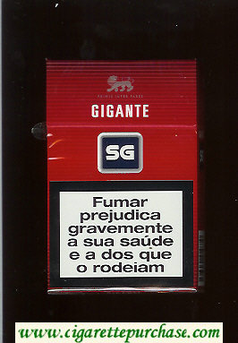 SG Gigante cigarettes red and black and grey hard box