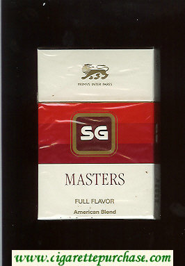 SG Masters Full Flavor American Blend cigarettes hard box