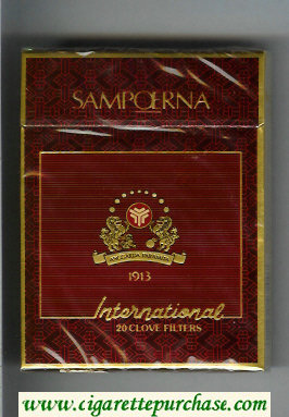 Sampoerna International 100s cigarettes wide flat hard box