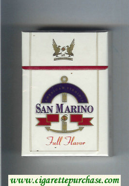 San Marino Full Flavor cigarettes hard box