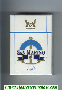 San Marino Lights cigarettes hard box