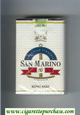 San Marino King Size cigarettes soft box
