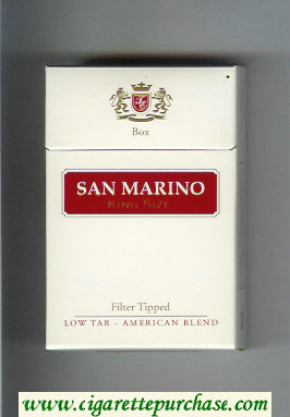 San Marino cigarettes white and red hard box