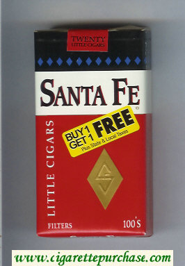 Santa Fe Little Cigars 100s cigarettes soft box