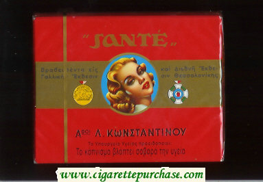 Sante L.Kwnstantinoy cigarettes wide flat hard box