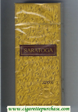 Discount Saratoga 120s cigarettes hard box