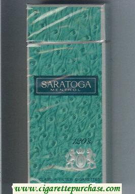 Discount Saratoga Menthol 120s cigarettes hard box