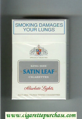 Discount Satin Leaf King Size cigarettes Absolute Lights hard box