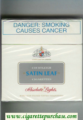 Discount Satin Leaf 30 cigarettes Absolute Lights hard box