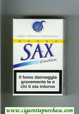 Sax Emotion cigarettes hard box
