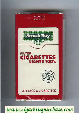 Scotch Buy Safeway Filter Cigaretess Lights 100s cigarettes soft box