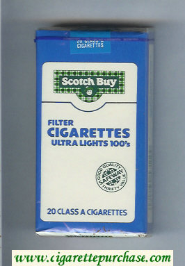 Scotch Buy Safeway Filter Cigaretess Ultra Lights 100s cigarettes soft box