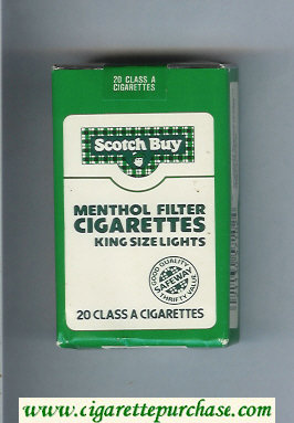 Scotch Buy Safeway Menthol Filter Cigaretess Lights cigarettes soft box