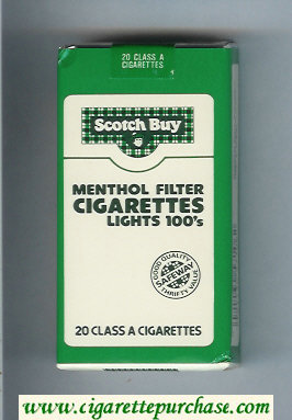 Scotch Buy Safeway Menthol Filter Cigaretess Lights 100s cigarettes soft box