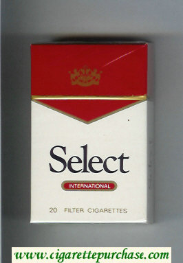 Select International cigarettes white and red hard box