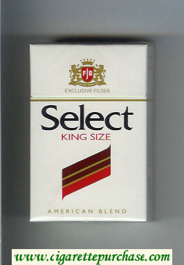 Select King Size Exlusive Filter American Blend cigarettes hard box