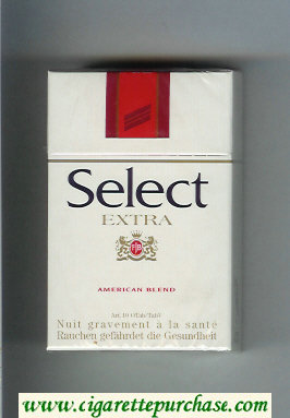 Select Extra American Blend cigarettes hard box