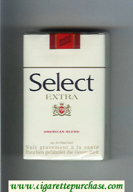 Select Extra American Blend cigarettes soft box