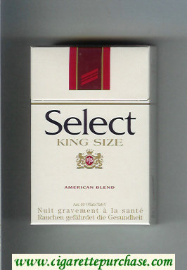 Select King Size American Blend cigarettes hard box