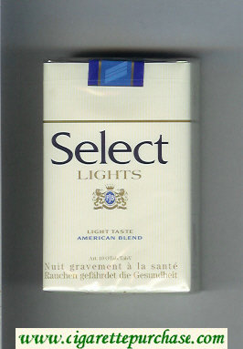 Select Lights American Blend cigarettes soft box